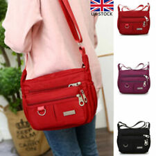Womens Cross Body Messenger Bags Ladies Handbag Multi Pocket Zipper Shoulder Bag