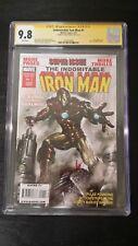 2010 MARVEL COMICS INDOMITABLE IRON MAN #1. SIGNED LUCIO PARRILLO CGC GRADED 9.8