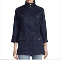 Jones New York Women's Stand Collar Safari Anorak Jacket NAVY L-XL-XXL NWT!