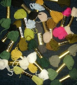 Job Lot 24 Skeins Anchor Tapestry Wool Threads Assorted Colours