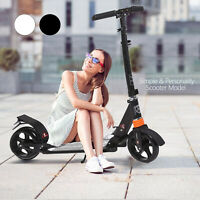 Adult Kick Scooter Foldable 3 Levels Adjustable Height 2-Wheel with Hand Brake