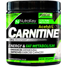 Nutrakey Acetyl-L-Carnitine Powder Energy/Fat Metabolism 500 Serves BUILD MUSCLE