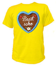 T-Shirt Lebkuchenherz - Basst scho - Oktoberfest Wiesn Tracht Bier Bayern