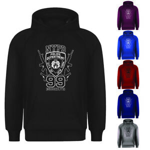 Mens NYPD New York Brooklyn 99 Retro New York Cool Pullover Hoodie Small-XXL