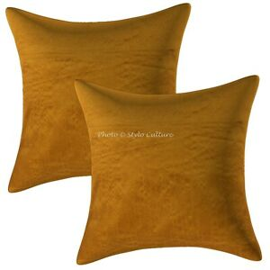 Indian Living Room Cushion Covers 40 x 40 cm Solid Zippered Pillow Cases
