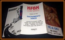 1985-86 SACRAMENTO KINGS ARCO KFBK AM BASKETBALL POCKET SCHEDULE FREE SHIPPING