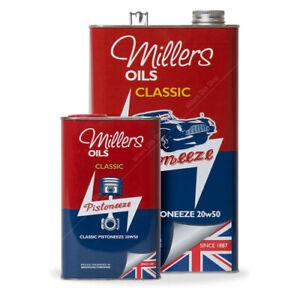 Millers Oils Classic Pistoneeze 20W-50 Mineral Engine Oil - 1 Litre 1L