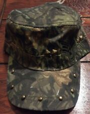 Military Studded Camo Cap Hat Adjustable Hat Camouflage
