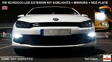 VW SCIROCCO CANBUS W5W LED BULBS LONG LIFE SET for SIDELIGHT MIRROR REG PLATE