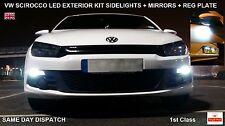 VW Scirocco Canbus W5W LED bombillas de larga vida Set para luz lateral espejo Reg Placa