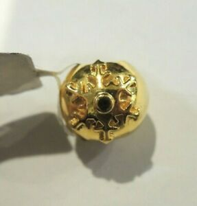 Very Good Condition - 9k Gold Charm Snow Flower 3.5GR
