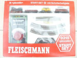 Fleischmann piccolo 9315 N Start Set mit Lok 7 und 3 Güterwagen,  OVP
