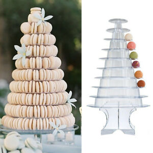 10 Tiers Macaron Display Stand Wedding Party Dessert Display Clear Acrylic Tower
