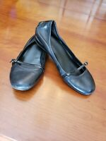 COLE HAAN NikeAir Black Mary Jane Comfort Flats Womens Size 9 1/2 B