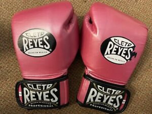 Cleto Reyes PINK leather small universal training gloves