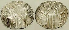 063. Medieval Silver Coin. IVAN ALEKSANDER. AR Grosh. Christ/Ivan & Michael