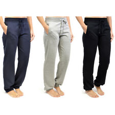Womens Jogger Track Jogging Bottoms Ladies Lounge Pants Gym Trousers Ribbed Hem