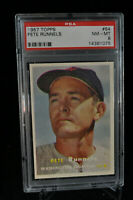 1957 Topps - Pete Runnels - #64 - PSA 8 - NM-MT