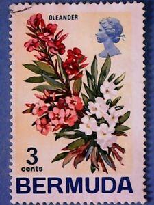 Bermuda. QE2 1970 3c Flowers. SG251. Wmk Ww12. P14. Used.