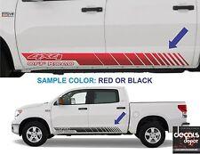 SILVERADO (2X) Fits LTZ Crew Cab 4X4 1500 2500HD 3500HD Universal Decal Stripes