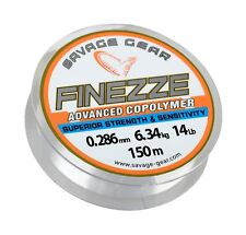 SAVAGE GEAR FINEZZE ADVANCED COPOLYMER 150M 14LBS MONO LINE BOAT BEACH FISHING
