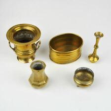 kleines Konvolut Messing Vasen - Übertöpfe - Vase - Pflanztopf - Vintage