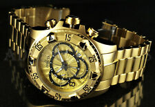 Invicta 52mm Excursion Touring Swiss Z60 Chronograph 18K Gold Plated SS Watch