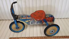 1950's Original Wooden Trike - Motorcycle Graphics - Very Good Usable Condition