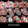 Dominican Republic Larimar Solid Gemstone Pendant 925 Sterling Silver Jewelry