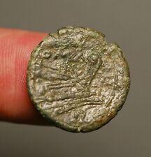 Z-682  ROMAN REPUBLIC Anonymous. Circa 214-212 BC. Æ Uncia  Roma / Prow of ship