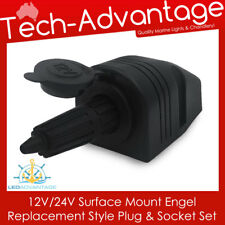 12V 24V SURFACE MOUNT LANDCRUISER UTE ENGEL REPLACEMENT LOCK SOCKET & PLUG KIT