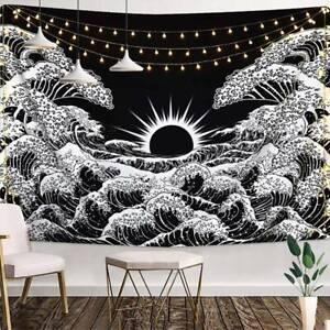 Ozean Wellen Tapisserie Wandbehang Wandteppich Wanddeko Teppich Gobelin Deko 200
