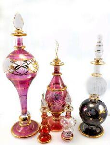 Vintage Handmade Egyptian Perfume Bottle bottles made pre 1995 JCE17 21