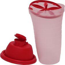 New Tupperware Jumbo Quick Shake - Shaker / Mixer Blender 500 ml (16.90 Oz) Red
