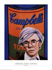 POP ART PRINT - Homage to Andy Warhol by Alan Bortman Poster 24x32