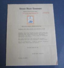 1917 Union Meat Pure Pork Sausage Letterhead w/ Poster Stamp - N. Portland Ore.