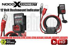 Noco GC016 X-Connect 12 Volt Dashmount Indicator - Noco BLSOLAR2 Battery Charger