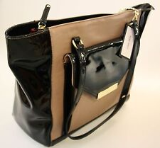 NINE WEST Original Tote women bag new beige-black two  handles   FREE GIFT