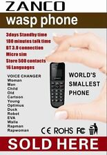 ZANCO WASP telefono, Voice Changer, 100% Plastica, 2017 @ECONOMICO@ BLUETOOTH