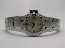 CONCORD SARATOGA STAINLESS STEEL MOP DIAMOND BEZEL & MARKERS LADIES WATCH