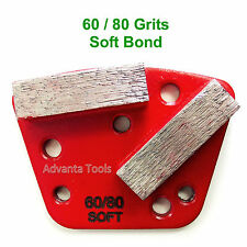 Trapezoid HTC Style Grinding Shoe / Disc / Plate - Soft Bond - 60/80 Grit