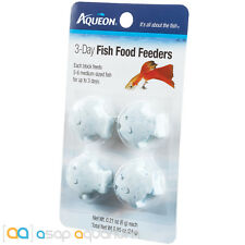 Aqueon 3 Day Tropical Freshwater Fish Food Feeder 4 pack Fast Free USA Shipping