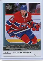 17/18 UPPER DECK YOUNG GUNS ROOKIE RC #494 NIKITA SCHERBAK CANADIENS *50649