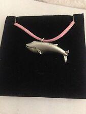 Blauwal r42 Pewter Anhänger rosa Kordel Halskette