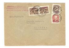 Polen Briefmarken Brief von 1950 Groszy Aufdruck Mi 651, 657, 659