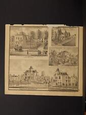 Ohio Cuyahoga County Map Residence A.G. Gardner  Engraving  1874  K11#88