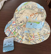 New York Subway Transit Museum Map Bucket Hat NWT