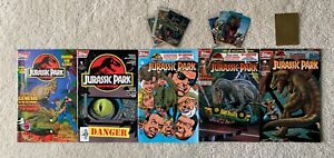 Topps Comics Jurassic Park #0 + #1 - 4 (Complete) + Trading Cards (5 Book Lot)