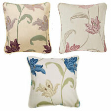"""Kinsale Luxury Durable Floral Cotton Cushions (18x18"""") - 4 PACK FILLED CUSHIONS"""