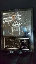 TERMINATOR ARNOLD SCWARZENEGGER Autographed Vintage 15 x12 ,Photo W COA